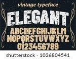 vintage font typeface... | Shutterstock .eps vector #1026804541