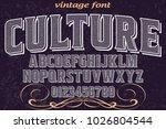 vintage font typeface... | Shutterstock .eps vector #1026804544