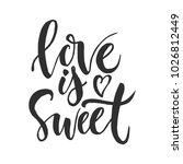 hand drawn word. brush pen... | Shutterstock .eps vector #1026812449