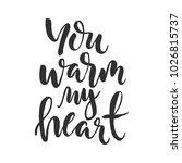 hand drawn word. brush pen...   Shutterstock .eps vector #1026815737