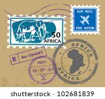 set of africa post stamp...