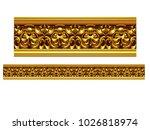 golden  ornamental segment  ... | Shutterstock . vector #1026818974