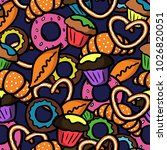 seamless pattern with... | Shutterstock .eps vector #1026820051