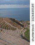 assos antique city ancient... | Shutterstock . vector #1026830185