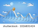 bitcoin currency symbol and... | Shutterstock .eps vector #1026831424