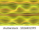 wavy stripes. trendy curve... | Shutterstock .eps vector #1026831595