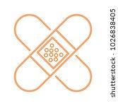 bandages crossed symbol | Shutterstock .eps vector #1026838405