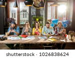 multi ethnic group of young...   Shutterstock . vector #1026838624
