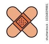 bandages crossed symbol | Shutterstock .eps vector #1026839881