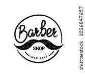 barber shop vector logo.... | Shutterstock .eps vector #1026847657