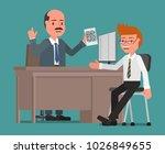 cheerful businessman... | Shutterstock .eps vector #1026849655