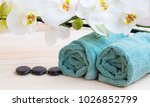 spa still life setting with... | Shutterstock . vector #1026852799