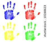 hand prints   Shutterstock . vector #10268623