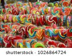 lollipops and colorful candy.   Shutterstock . vector #1026864724