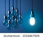 one hanging eco energy saving... | Shutterstock . vector #1026867004
