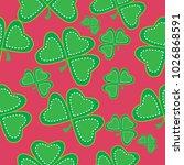 shamrock vector seamless pattern | Shutterstock .eps vector #1026868591