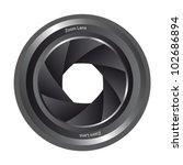 blackk camera shutter isolated... | Shutterstock .eps vector #102686894