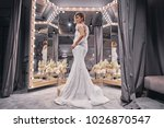 charming bride.  full length of ... | Shutterstock . vector #1026870547