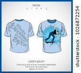 t shirt design template    Shutterstock .eps vector #1026872254