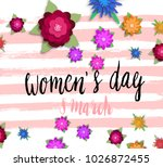 international women's day... | Shutterstock .eps vector #1026872455