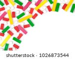 colorful plastic toy blocks.... | Shutterstock . vector #1026873544