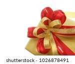 a premium gold gift box with... | Shutterstock . vector #1026878491