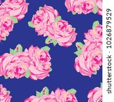 floral pattern with roses ... | Shutterstock .eps vector #1026879529