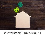 lucky home symbol with four... | Shutterstock . vector #1026880741