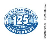 125 years anniversary.... | Shutterstock .eps vector #1026883867