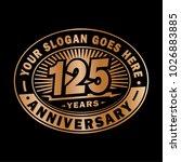 125 years anniversary.... | Shutterstock .eps vector #1026883885