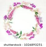 summer or spring round frame...   Shutterstock . vector #1026893251