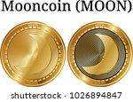 set of physical golden coin...   Shutterstock .eps vector #1026894847