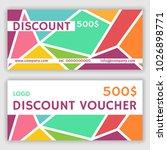 gift voucher template. vector... | Shutterstock .eps vector #1026898771