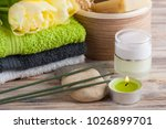 spa composition with green tea... | Shutterstock . vector #1026899701