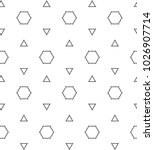 seamless vector pattern in... | Shutterstock .eps vector #1026907714