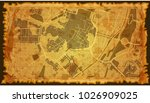 vintage map city | Shutterstock .eps vector #1026909025