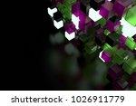 3d render abstract background.  ...   Shutterstock . vector #1026911779