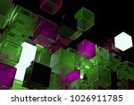 3d render abstract background.  ...   Shutterstock . vector #1026911785