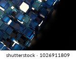 3d render abstract background.  ...   Shutterstock . vector #1026911809