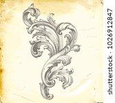classical baroque vector of... | Shutterstock .eps vector #1026912847
