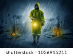 destroyed place after a... | Shutterstock . vector #1026915211