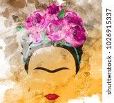 Frida Kahlo Vector Portrait ...