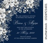 marriage invitation card with...   Shutterstock .eps vector #1026921601