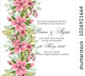 marriage invitation card with... | Shutterstock .eps vector #1026921664
