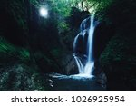 paradise jungle forest with... | Shutterstock . vector #1026925954