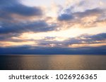 blue sky with curly clouds and...   Shutterstock . vector #1026926365