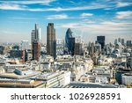 london cityscape during summer | Shutterstock . vector #1026928591