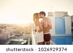 a passionate kiss | Shutterstock . vector #1026929374