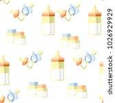 children's pacifiers  bottles... | Shutterstock .eps vector #1026929929