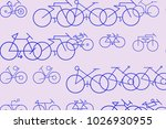 abstract outline of bicycle...   Shutterstock .eps vector #1026930955